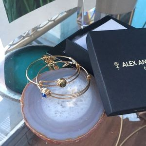 Alex And Ani (+) Energy Gold Charm Bracelets (2)